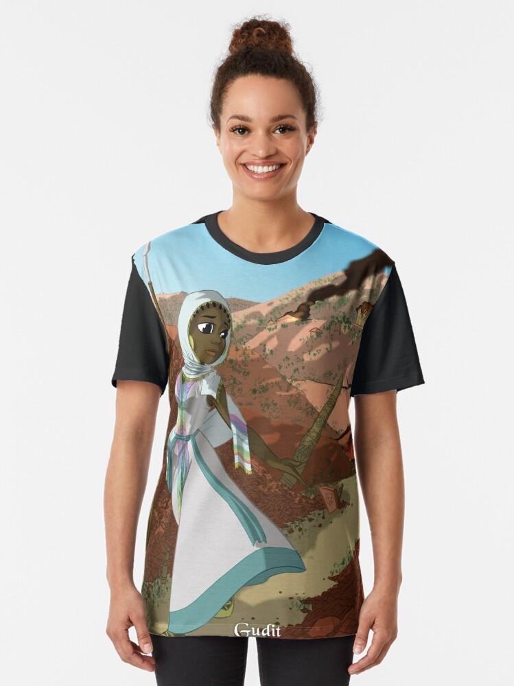 Alternate view of Gudit - Rejected Princesses Graphic T-Shirt