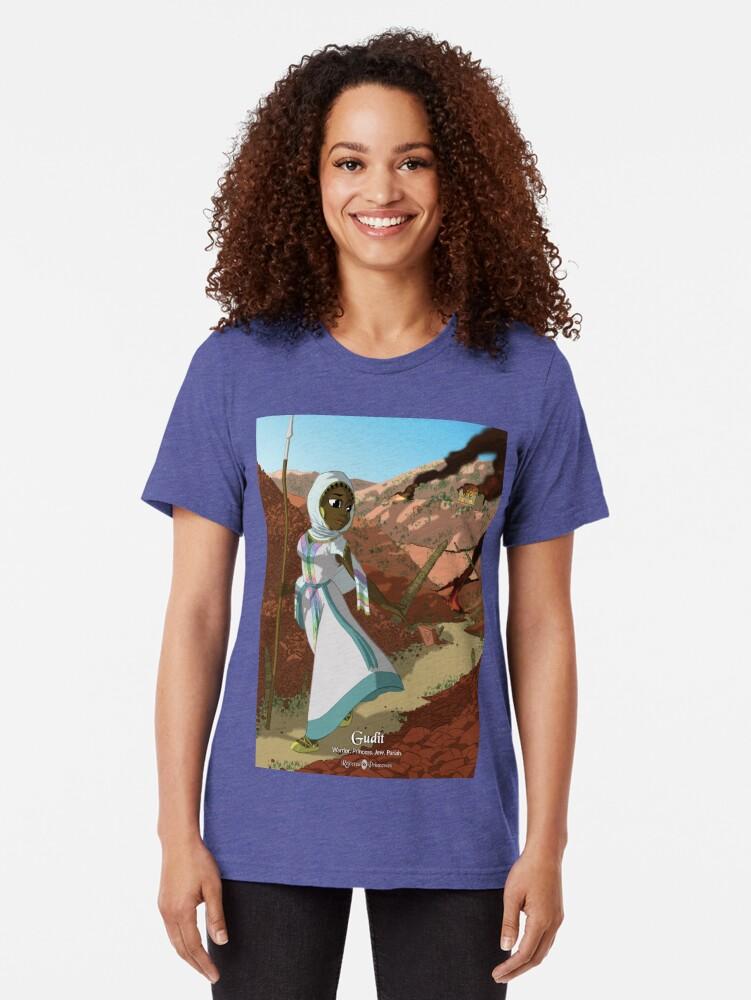 Alternate view of Gudit - Rejected Princesses Tri-blend T-Shirt