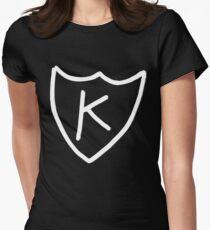 Kurt Cobain - K tattoo, K records (White)  Women's Fitted T-Shirt
