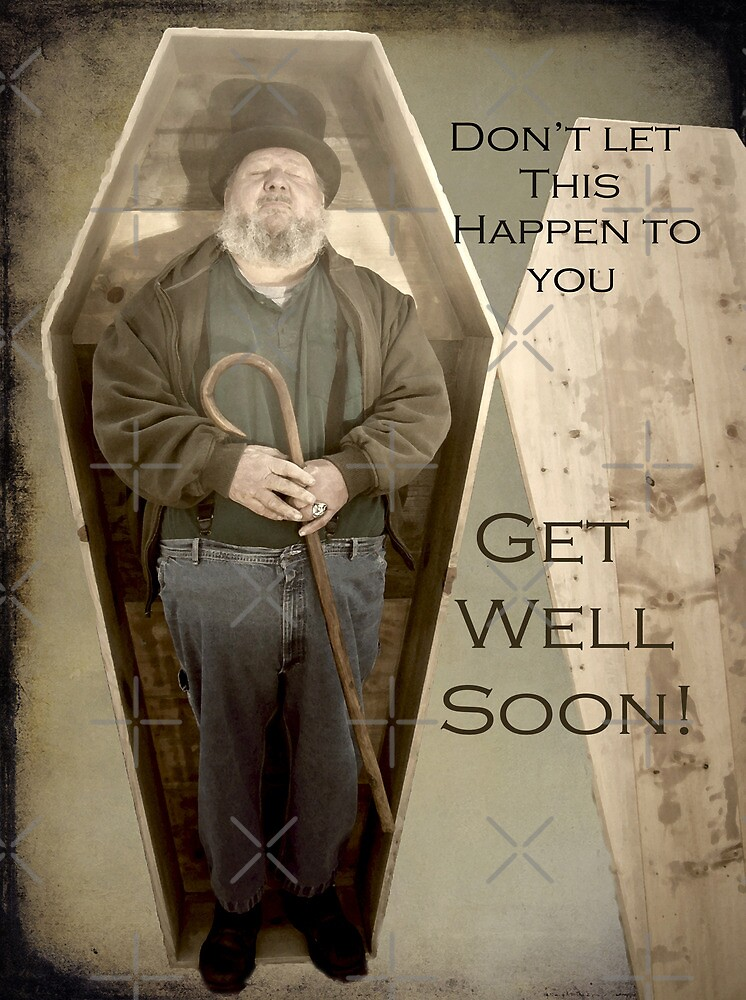 Get Well Soon Greeting Card by FrankieCat