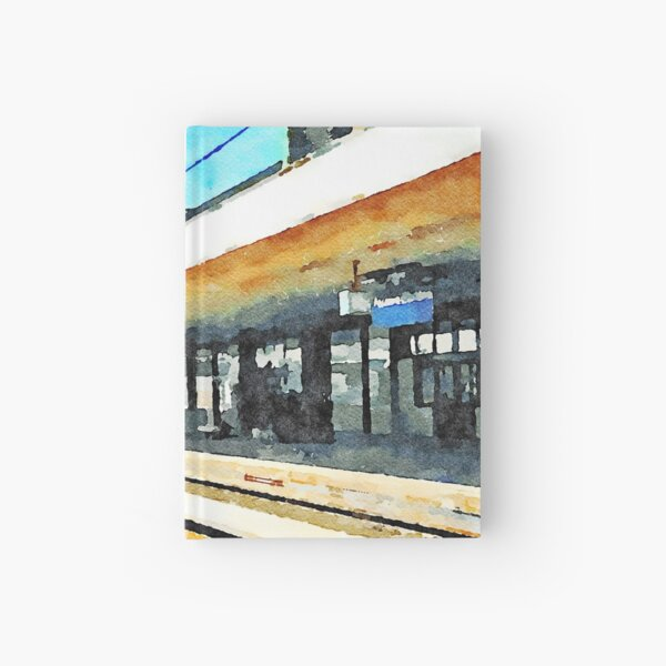 Train in Pescara railway station Hardcover Journal