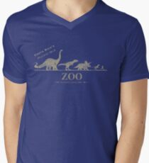 Jurassic Zoological Gardens  Men's V-Neck T-Shirt
