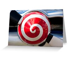 Aircraft propeller abstract red swirl Greeting Card