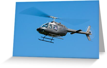 Bell Jet Ranger helicopter by Martyn Franklin