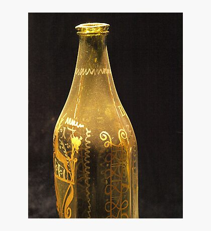 Old Bottle with Ornaments  VRS2 Photographic Print