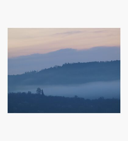 Mist in the Early Morning Valley  VRS2 Photographic Print