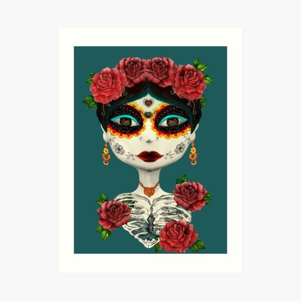 Catrina-Day of the dead. Art Print