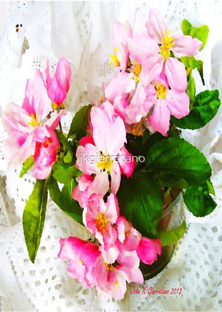 Apple Blossom Arrangement Design Painting by jkgiarratano