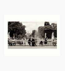 Le Jardin des Tuileries Art Print