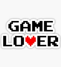 Game lover (black) Sticker