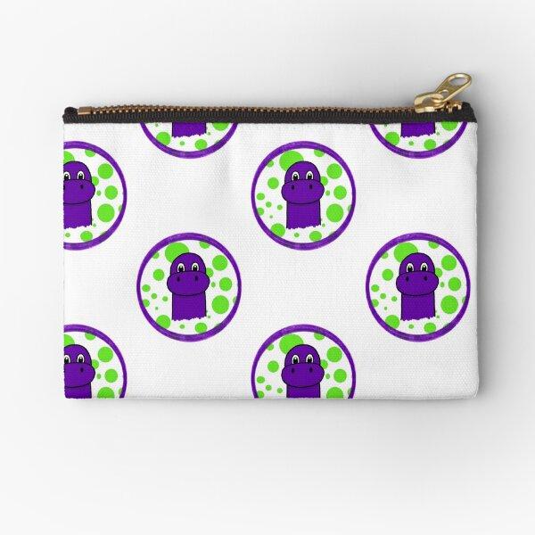 """The Purple Saurus"" Zipper Pouch"