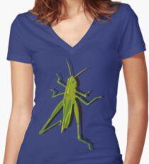 Grasshopper #1 Women's Fitted V-Neck T-Shirt