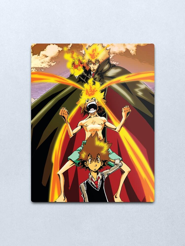 Tsuna Hitman Reborn Metal Print By Rayme3000 Redbubble