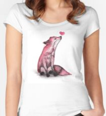Fox Love Women's Fitted Scoop T-Shirt