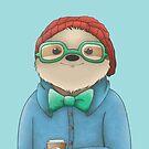 Hipster Sloth  by Rayne Karfonta
