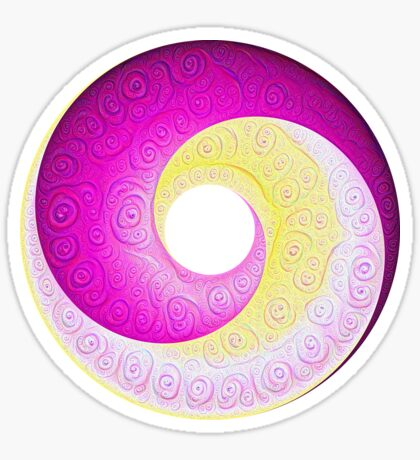 #DeepDream Color Circles Visual Areas 5x5K v1448901772 Sticker