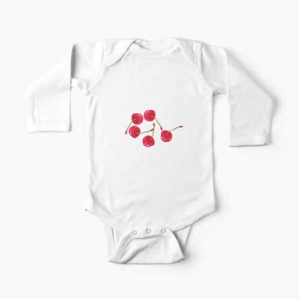Sweet Cherries Long Sleeve Baby One-Piece