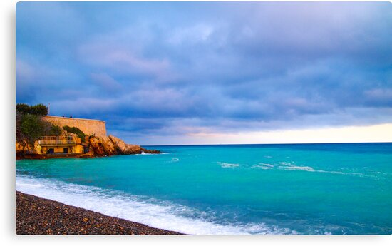 Nice Mediterranean Coast by Joel Brown