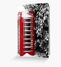 Telephone box Greeting Card
