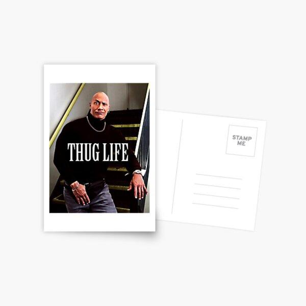 Throwback - Dwayne Johnson Postcard