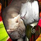 Cat Valentine Collage by Ellen Cotton