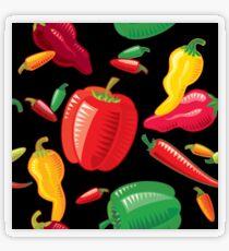 Hot Peppers Transparent Sticker