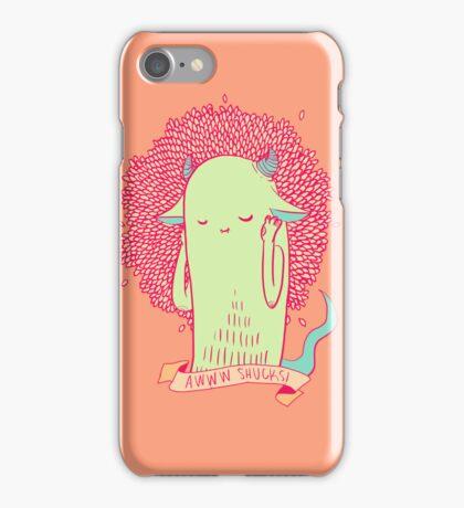 [bashful monster] iPhone Case/Skin