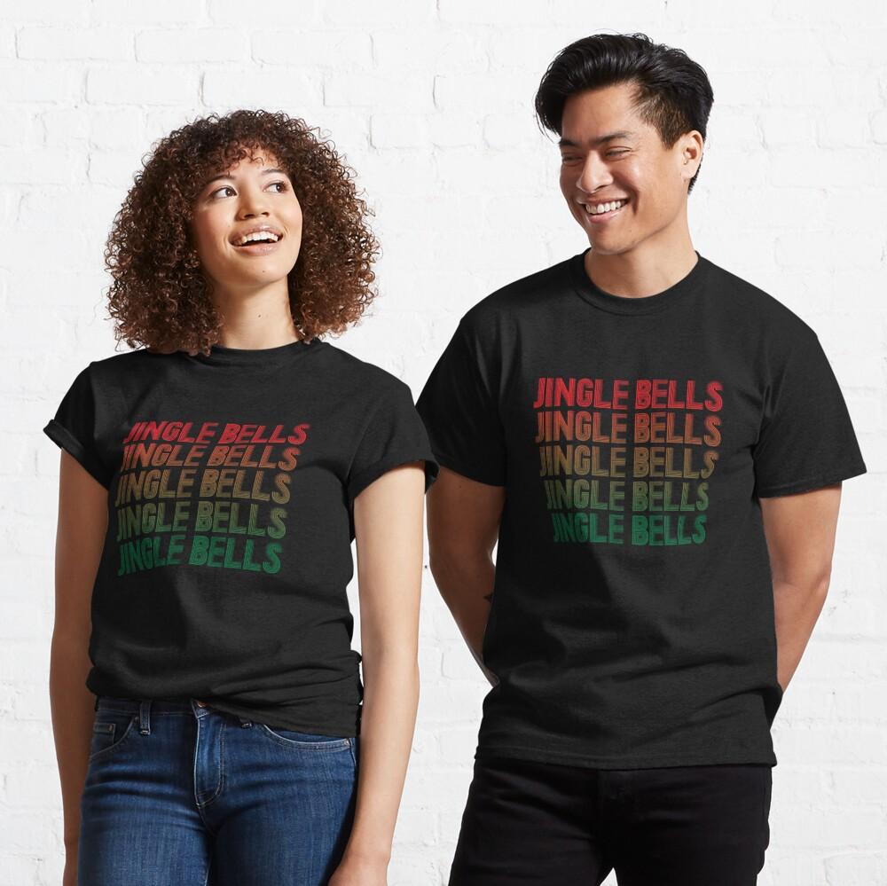 Jingle Bells Retro Christmas Pajama Gift. Classic T-Shirt