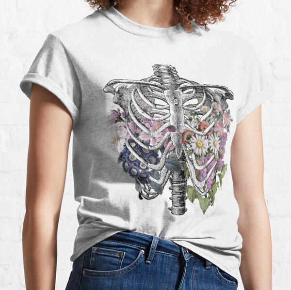 Floral Rib Cage  Classic T-Shirt