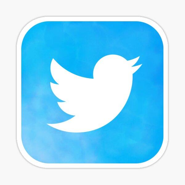 Twitter Icon Watercolor Sticker