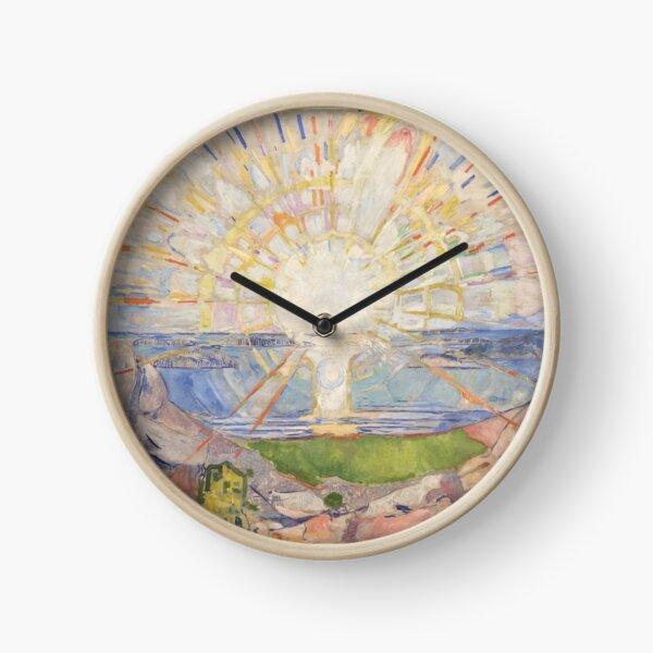 Edvard Munch The Sun solen Clock