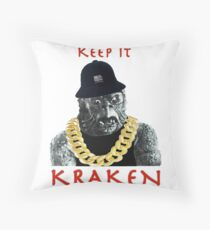 KEEP IT KRAKEN Throw Pillow