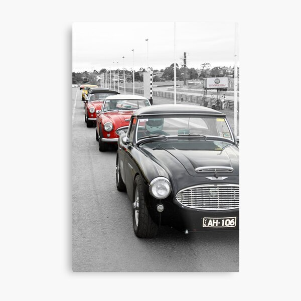 Starting Grid at Sandown Metal Print