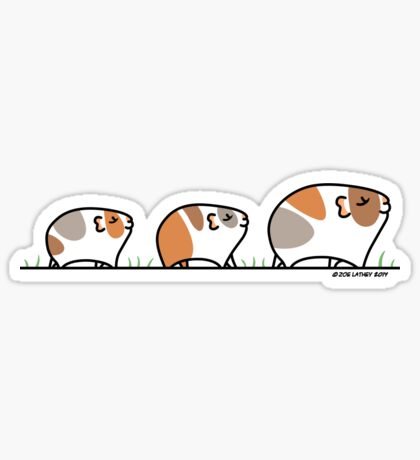 Mother Guinea-pig with Babies Sticker
