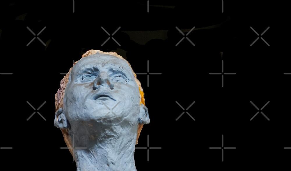 The Blue Self Portrait in Terra Cotta by Heather Friedman