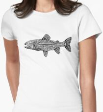 Doodle of Trout Women's Fitted T-Shirt
