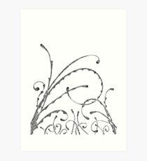 Field Of Doodle Art Print