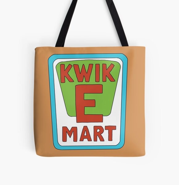 Kwik E Mart Simpsons logo All Over Print Tote Bag