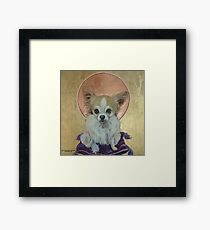 Long Haired Chihuahua as King Framed Print