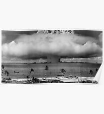 Atomic Bomb Mushroom Cloud Operation Crossroads Baker Test Poster