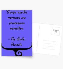 The Genie, Aladdin Quote Postcards