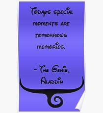 The Genie, Aladdin Quote Poster