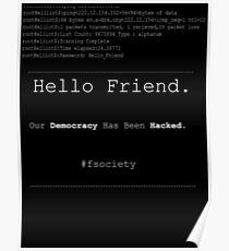 Hello Friend@fsociety Poster