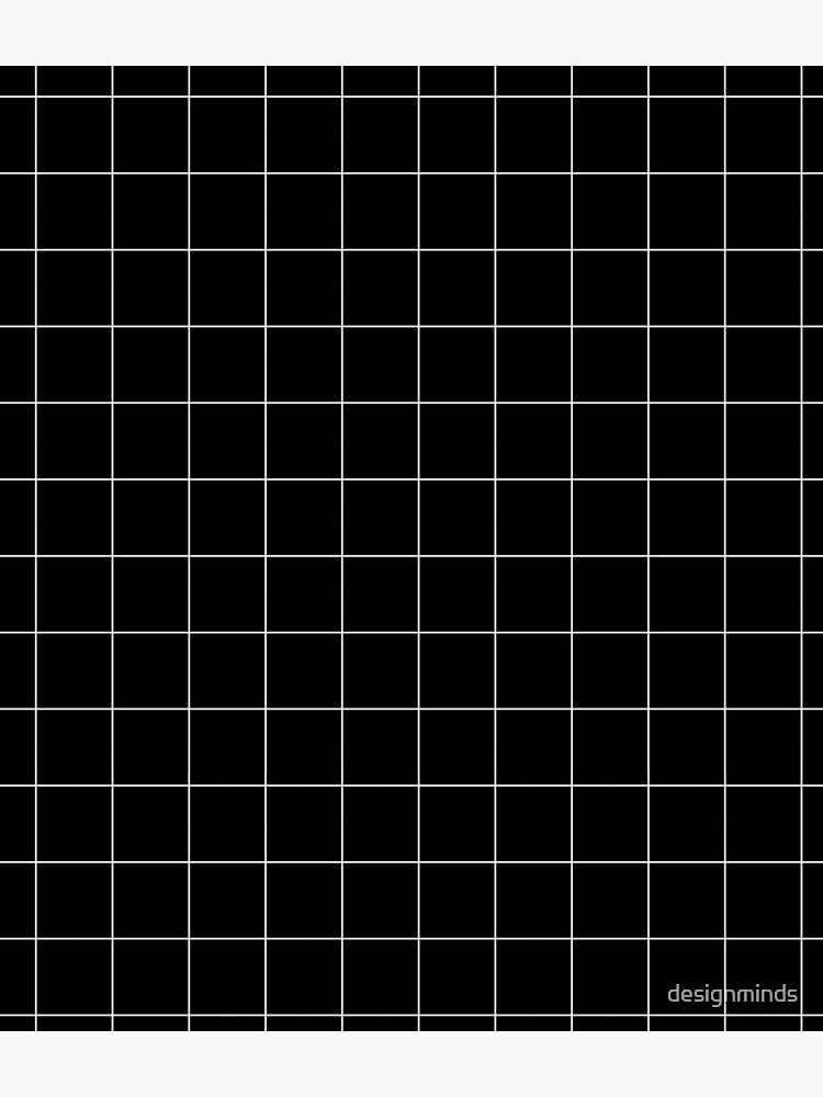 Windowpane Check Grid (white/black) by designminds