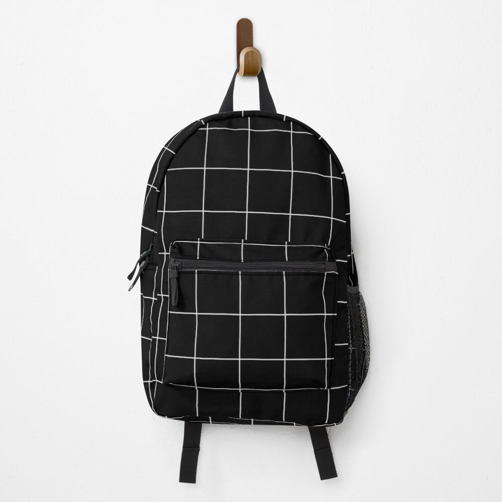 Windowpane Check Grid (white/black) Backpack