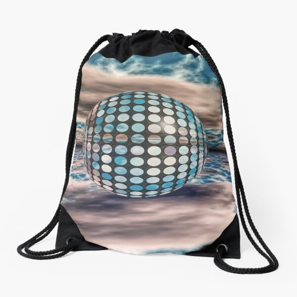 Sphere Of Many Mirrors Drawstring Bag