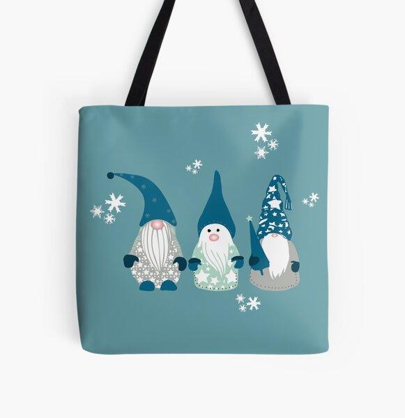 Trio of Gnomes  All Over Print Tote Bag