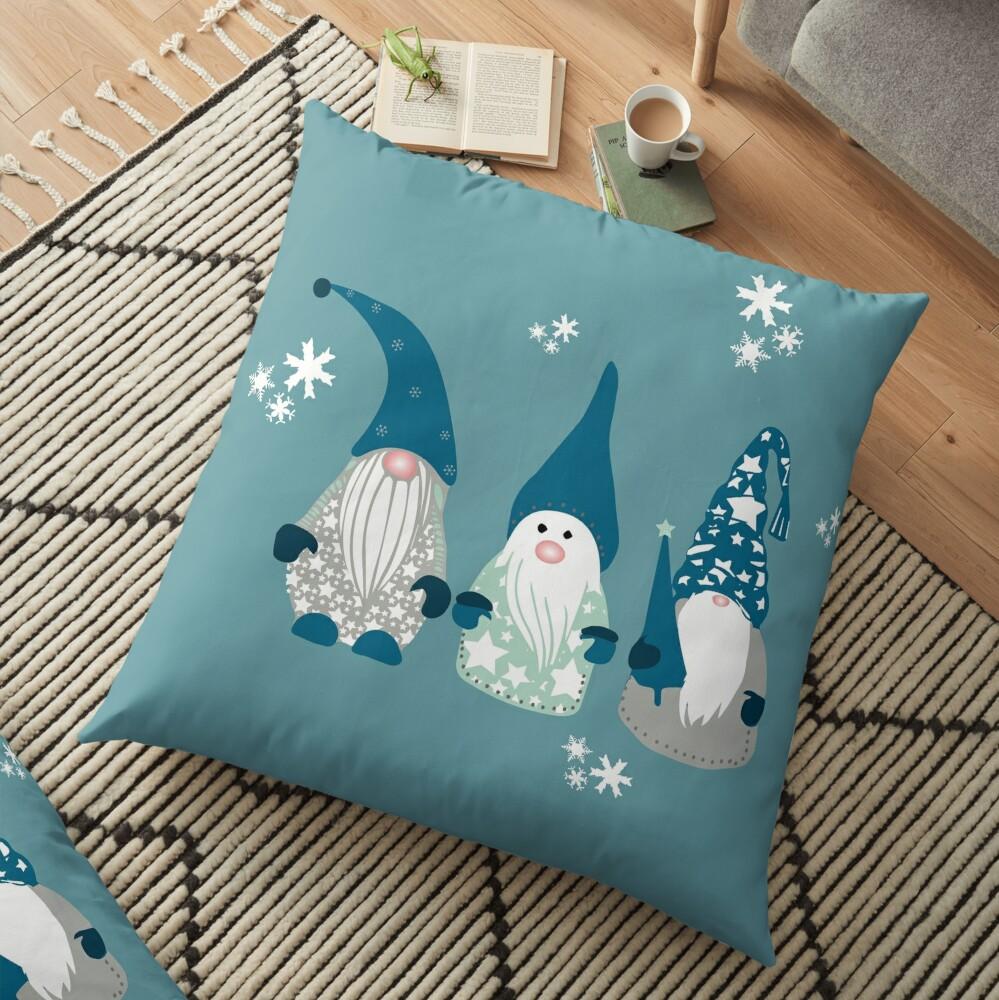 Trio of Gnomes  Floor Pillow