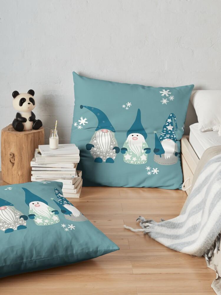 Alternate view of Trio of Gnomes  Floor Pillow