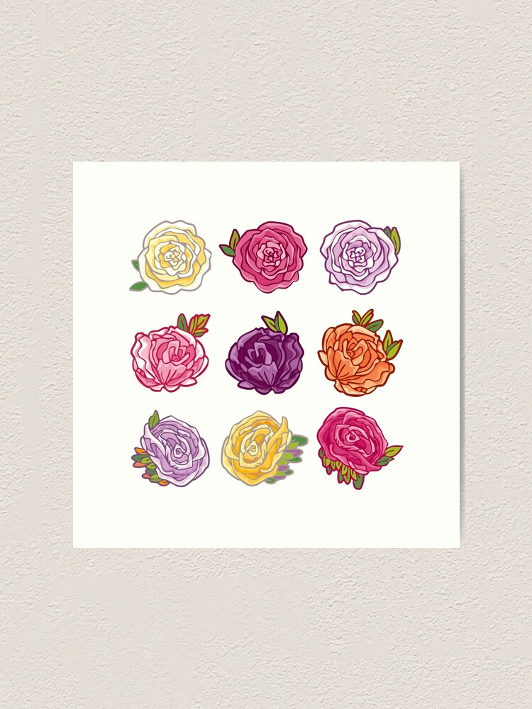 Alternate view of Decorative Roses Art Print